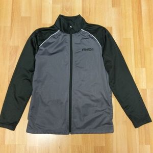 Men's And1 Gray Basketball Warm-up Jacket, Size S